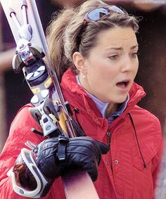 Kate Middleton and Prince William Skiing (2004)
