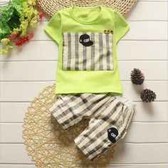 $20.10 (Buy here: https://alitems.com/g/1e8d114494ebda23ff8b16525dc3e8/?i=5&ulp=https%3A%2F%2Fwww.aliexpress.com%2Fitem%2FBaby-Boy-Suit-Summer-Baby-Clothes-Children-0-1-4-Young-Children-3-Years-Old-Short%2F32668992265.html ) Baby Boy Suit Summer Baby Clothes Children 0 1 4 Young Children 3 Years Old Short-Sleeved Summer 2 Children 4 Years Old Tide for just $20.10