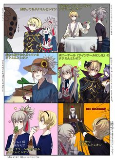 Takumi and Leo (poor Joker)