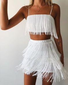 Festival – Page 3 – Generation Outcast Clothing Trendy Outfits, Summer Outfits, Fashion Outfits, Party Outfits, Skirt Outfits, Modest Fashion, Tassel Skirt, Fringe Skirt, Sequin Skirt