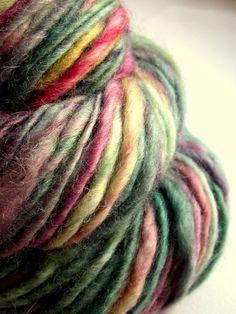 Handspun yarn uk knitting supplies blue faced by thefibretree, £8.99
