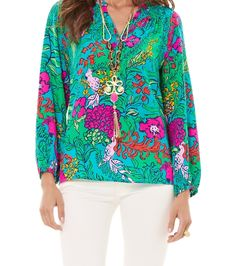 Lilly Pulitzer Elsa Top in Shake Your Tail Feather