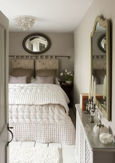 The second bedroom has a king-sized bed that can be split into two singles