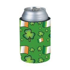 Ireland Flag Shamrock Kolder Holder® by @kolderinc $4.99 #StPatricks #StPat #StPatty