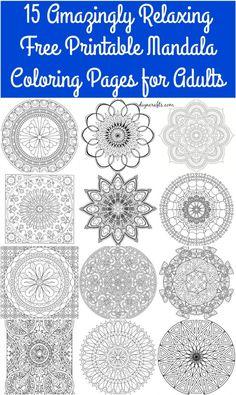 Stone Mandala Pattern Printable