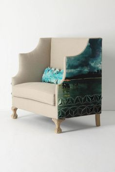Greenfynch Settee, Padrina....an intensely dramatic seat-for-two printed with a photo of Brazil....beyond perfect