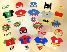 Printable Superhero Photo Booth Props, Super Hero Digital Photobooth Props, Superhero Party Printable, Superhero Mask Printable, 0374 by TracyDigitalDesign on Etsy https://www.etsy.com/listing/263091613/printable-superhero-photo-booth-props