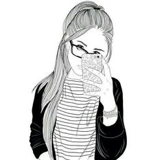 Images of hipster love drawings - Tumblr Outline, Outline Art, Outline Drawings, Love Drawings, Drawing Sketches, Art Drawings, Drawing Ideas, Tumblr Girl Drawing, Tumblr Sketches