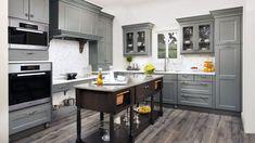 Fabuwood Nexus slate, stunning gray frameless kitchen cabinets!