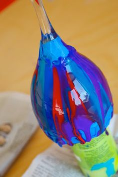 Holly's Arts and Crafts Corner: Craft Project: Pour Paint Wine Glasses