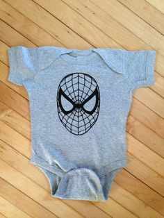 Simple Spiderman Inspired Baby Onesie  Pick Your by StellasShoppe, $12.00