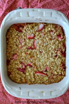 Strawberry Rhubarb Baked Oatmeal