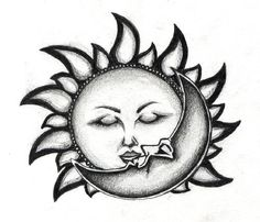Kiss of the sun and the moon by edde.deviantart.com on @deviantART