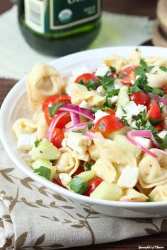 Tortellini Pasta Salad - fresh, easy and perfect way to use up your garden veggies!