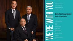 In a new book entitled We're With You: Counsel and Encouragement from Your Brethren, each member of the current First Presidency and Quorum of the Twelve Apostles shares advice, counsel, and messages of hope for anyone trying to navigate their life through challenging times.