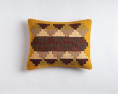 Maya Temple Gold / 14x20 Kilim Pillow by ChristianRathbone