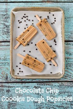 Chocolate Chip Cookie Dough Popsicles (vegan, dairy-free, gluten-free)