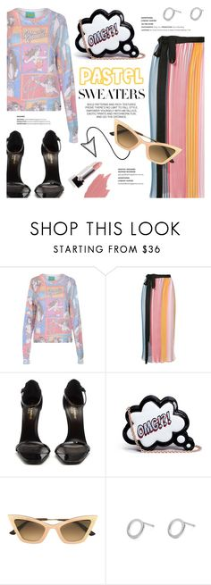 """""""Pastel sweater"""" by edita1 on Polyvore featuring Frogbox, Tome, Yves Saint Laurent, Sophia Webster, Christian Roth, Myia Bonner and pastelsweaters"""