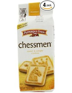 Pepperidge Farm Chessmen Cookies, 7.25-ounce (pack of 4): Amazon.com: Grocery & Gourmet Food