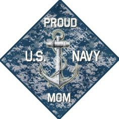 "Support your sailor with this ""Proud U.S. Navy Mom"" vinyl decal for only $5 + FREE shipping #Navy #military"