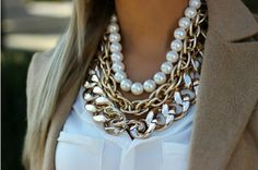 23 Trendy how to wear necklaces neckline stitch fix Dainty Diamond Necklace, Cluster Necklace, Pearl Necklace, Pendant Necklace, Layered Necklace, Pearl Pendant, Collier Floral, Maxi Collar, Sneaker Store