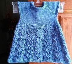 Ravelry: Paulina Dress pattern by Taiga Hilliard Designs Toddler Dress Patterns, Baby Girl Patterns, Doll Clothes Patterns, Baby Knitting Patterns, Knitting Designs, Clothing Patterns, Girls Knitted Dress, Knit Baby Dress, Baby Doll Clothes