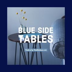 A collection of beautiful and unique blue end tables or nightstands for the home or office. Various shades of blue, along with multiple designs and styles. #blueendtable #bluenightstand #endtables #nightstands #bluedecor #ShopStyle #shopthelook