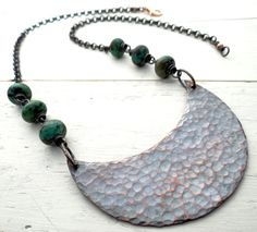 Chunky Crescent Bib Necklace by Lost Sparrow Jewelry