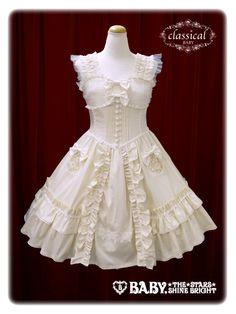 生成×生成レース Ivory x Ivory lace ポケット刺繍ジャンパースカート/Embroidered pocket jumper skirt Baby the Stars Shine Bright BSSB BtSSB BabySSB