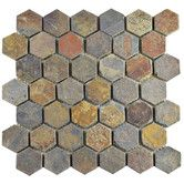 "Found it at Wayfair - Peak Hexagon 1.88"" x 1.88"" Slate Mosaic Tile in Gray"