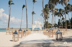 lanterns lighting the way down the aisle for our Punta Cana #wedding #mybigday
