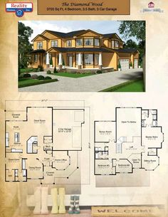 Reality Homes Oregon. What a beautiful home, although I would change the exterior to white or light gray! Custom Built Homes, Custom Home Builders, Home Inc, Best House Plans, Good House, House Layouts, Better Homes, Great Rooms, Beautiful Homes