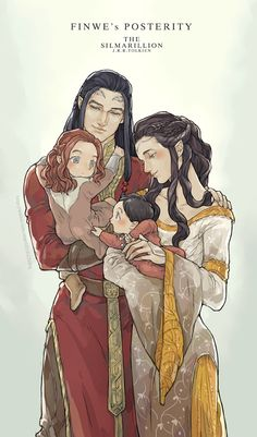 They're all reborn, and the youngest baby is Fëanor ^_^ (so technically the son is older than the father. Not weird at all! :D)