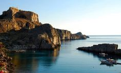 St. Paul's bay in Lindos, Rhodes Greece