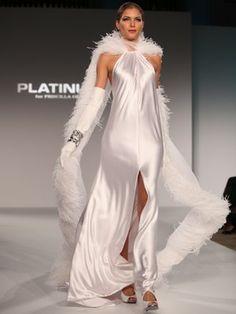 Platinum for Priscilla of Boston dresses