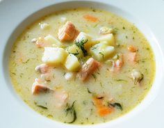 Finnish Style Salmon Soup... One of the few things in Finland that I really love