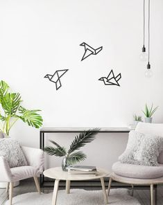 This Set of 3 Wall Art Black Birds Minimalist Wall Art Interior is just one of the custom, handmade pieces youll find in our wall hangings shops. Metal Bird Wall Art, Metal Wall Decor, Modern Room Decor, Home Decor, Tape Wall Art, Gallery Wall Layout, Dorm Art, Contemporary Wall Art, Design Your Home