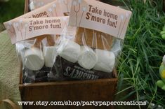 Campfire birthday party favors