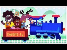 "▶ ""Riding on a Train,"" The Train Song by StoryBots - YouTube"
