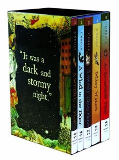 The Wrinkle in Time Quintet. I loved these books as a kid. I wonder if the religious undertones would bother me as an adult?