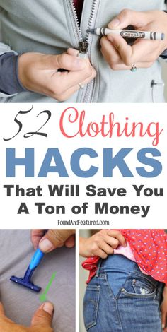 Clothing and shoe tips that you probably don't know about! I especially like the cleaning tips.