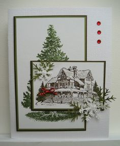 Whew! Saw this on a few pins, but I am a stickler for wanting to give credit -- especially when it is such an elegant card. Took a while, but I found the original posting on Linda Fisher's blog (Linda's Stampin Loft) for Oct. 25, 2011.
