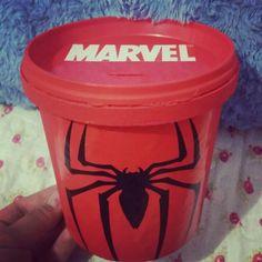 Cofre spider man o homem aranha diy do lixo ao luxo reciclagem