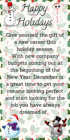 U0027Tis The Season Of Giving . . . And Getting . . . A Job