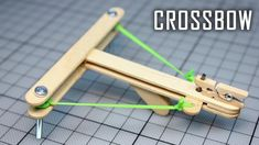 How to Make a Mini Crossbow with trigger out of popsicle sticks. How to make a Crossbow out of wood, easy and at home. Crafts For Boys, Diy Home Crafts, Craft Activities For Kids, Projects For Kids, Diy For Kids, Fun Crafts, Diy Crossbow, Crossbow Hunting, Crossbow Arrows