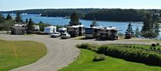 Mainstay RV Park Winter Harbor, ME Waterfront sites overlooking Henry Cove Full Hookups & Wifi Pets allowed