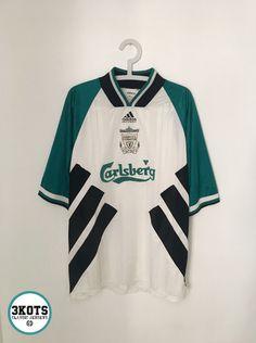 8ae91e17e LIVERPOOL FC 1993 95 Away Football Shirt XL Soccer Jersey ADIDAS Vintage  Maglia  ADIDAS