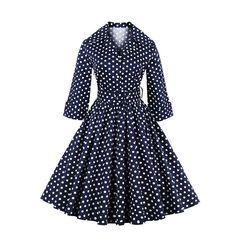 #Buy online #Corset #Dresses from different types of #VINTAGE #RETRO #POLKA DOT #DRESS M3633020  Order Now:- http://www.corsetdresskart.com/Dresses/Vintage-Retro-Polka-Dot-Dress-M3633020