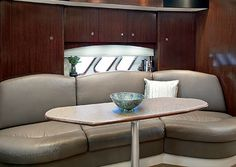 Cruisers Yachts.. couch on our 350  is white leather -otherwise same design