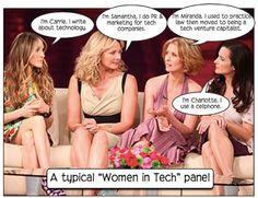 Sex in the city women in tech panel